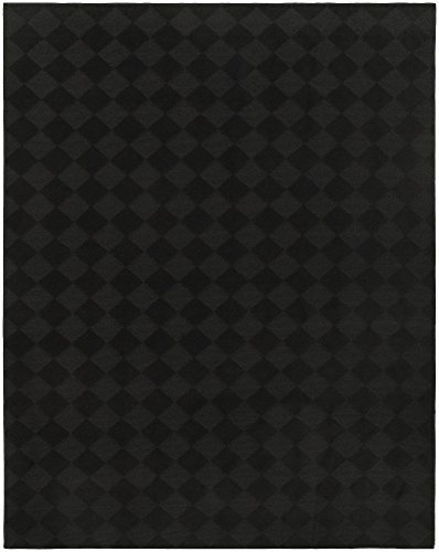 Garland Rug CL020A06008415 Diamond Area Rug, 5'x7' , Black (College Rugs)