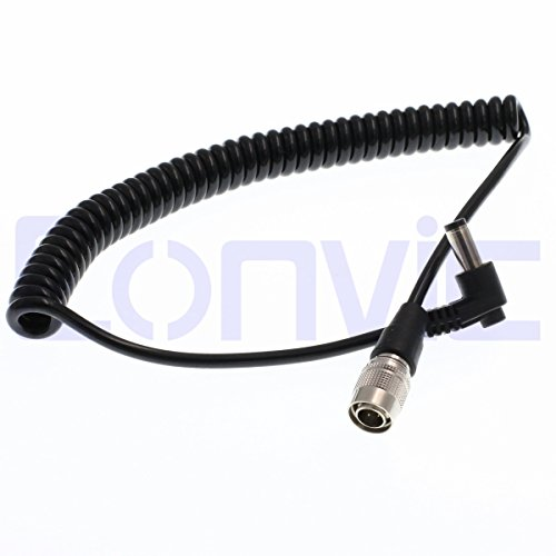 Eonvic DC Hirose 4pin Male Plug Power Coiled Cable For Sound Devices Zaxcomn ZOOM F8 (Adapter Hirose)