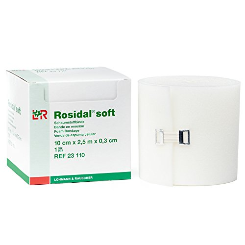- Rosidal Soft Foam Padding, Foam Dressing & Lymphedema Padding for Compression Distribution, 10cm x .3cm x 2.5m