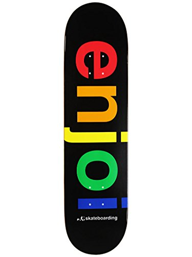 (Enjoi Spectrum Skateboard Deck, Black, 31.7