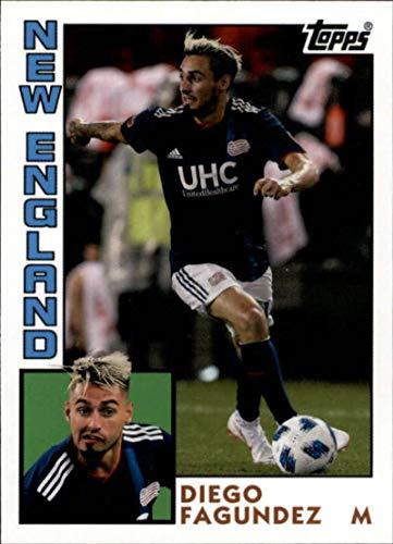 Tt New Football - 2019 Topps MLS Throwbacks #TT-DF Diego Fagundez New England Revolution Soccer Trading Card