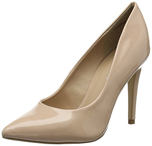 New Look WoMen Yummy Closed Toe Heels Beige (Oatmeal 14)