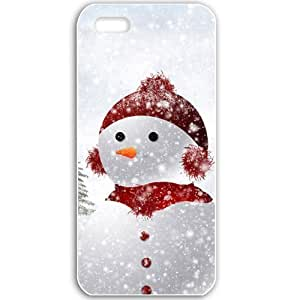 Apple iPhone 5 5S Cases Customized Gifts For Holidays New Year Holidays New Year Snowman 19196 Black