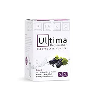 Ultima Replenisher Electrolyte Powder, Grape, 20 Count