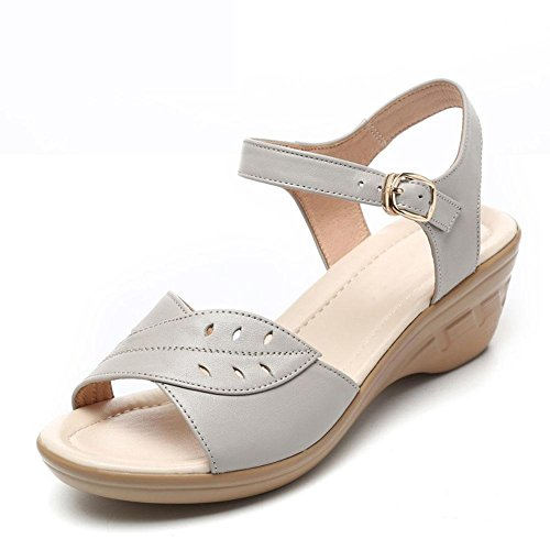 Sandals Large 41 In Leather With Underwear YC L Shoes Girls Women'S Women'S Of white Summer Yards Non Slip Soft The Slope qZt0Sw