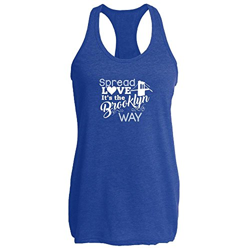 Wallace Royal Thread (Pop Threads Spread Love It's The Brooklyn Way Heather Royal 2XL Womens Tank Top)