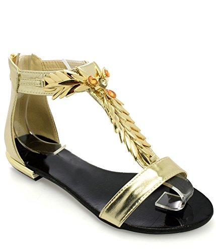 Borse 37Amazon Alexoo Da Donna E Mujer Oro itScarpe Sandali W9YED2beHI