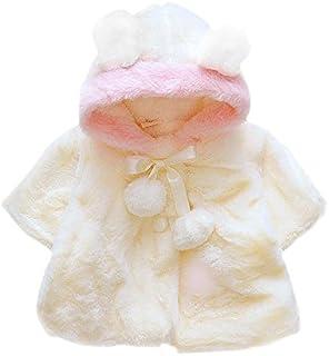 Domybest Giacca Neonata Invernale di Pelliccia Artificiale Cappotto Corto Carino per Neonata