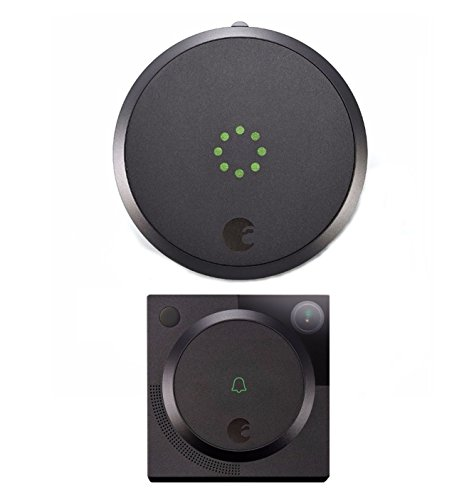 August Smart Lock with Video Doorbell Cam In Dark Gray by August