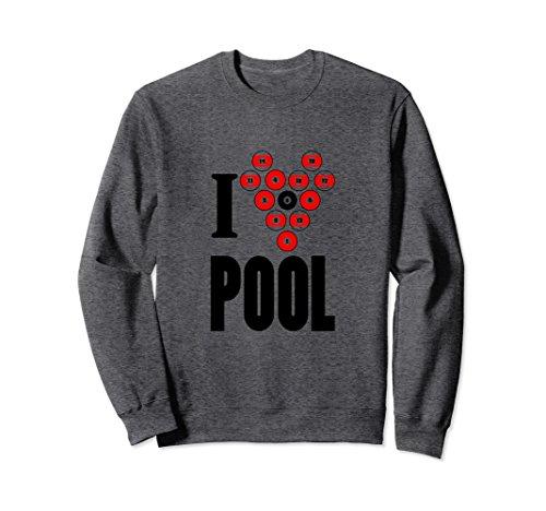 Casino Pool (Unisex Pool Billard Casino Game Sweatshirt for Womens Mens Kids Medium Dark Heather)