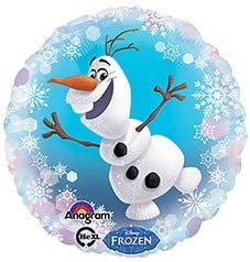 5Pack Frozen 33 Olaf Snowman Theme Party Balloons for Baby Shower Birthday Christmas Party Decorations