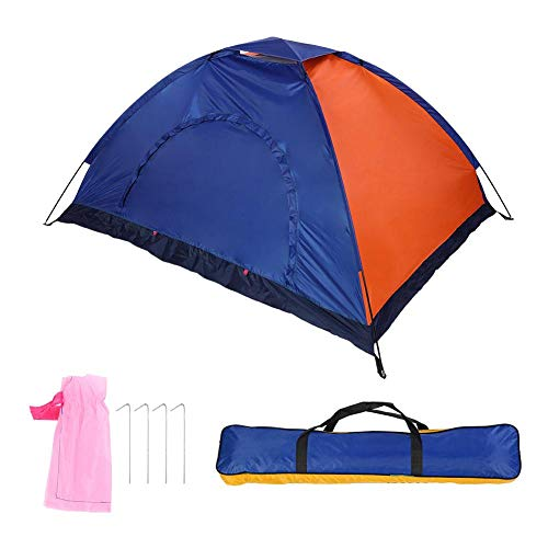 抽象化エキス郵便番号テント ドアと窓付きバックパッキング用キャンプ用 屋外防水テント