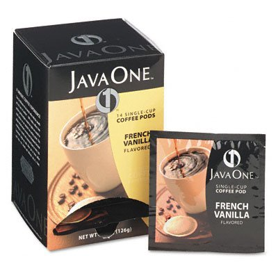 Java One Coffee Pods, French Vanilla, Single Cup, (Java Trading Co . French Coffee)