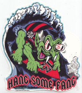 Ben Von Strawn Hang Some Fang Collectible Sticker