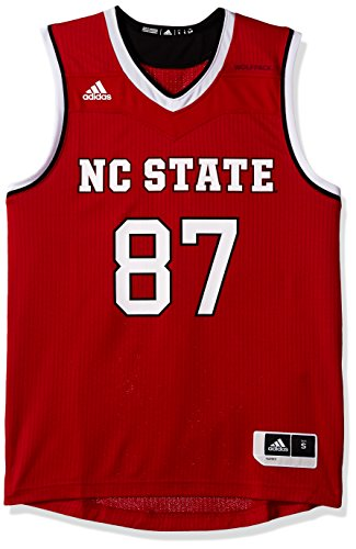 NCAA North Carolina State Wolfpack Adult Men Replica Basketball Jersey Small,Red (Wolfpack Red Adidas Replica Football)