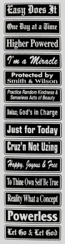 tivational Multiple Saying Strip Bumper Sticker, #St24, Color - Black & Silver (Motivational Bumper Stickers)