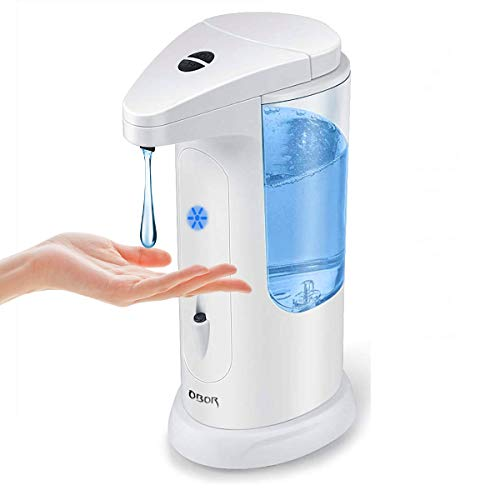 OBOR Touchless Automatic Soap Dispenser, Hands-Free Auto Sensor Liquid Soap Pump Dispensing W/ Adjustable Switches…