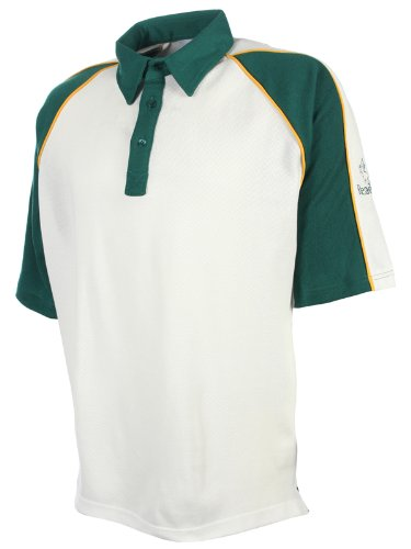Readers Mens Short Sleeve Cream Cricket Shirt Jersey – Team Coloured Top