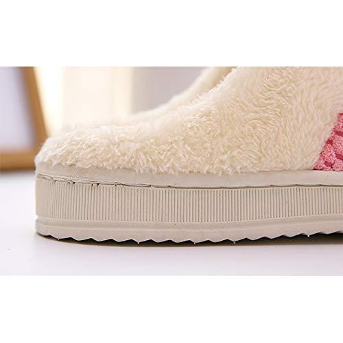 36 Donna Caldo Indoor Pantofole Antiscivolo Westeng Cotone Morbido Invernale Adorabile Scarpe 37 Rosso Pantofole Per E4OnqWwF