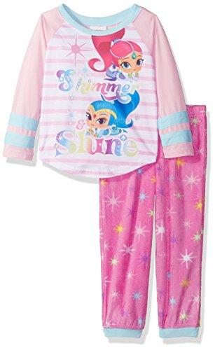 Nickelodeon Girls' Little 2-Piece Fleece Pajama Set, Pink, 6