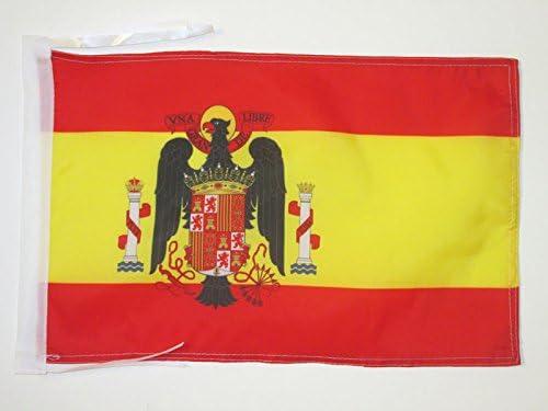 AZ FLAG Bandera de ESPAÑA DE Franco 1945-1977 45x30cm - BANDERINA FRANQUISTA ESPAÑOLA 30 x 45 cm cordeles: Amazon.es: Deportes y aire libre