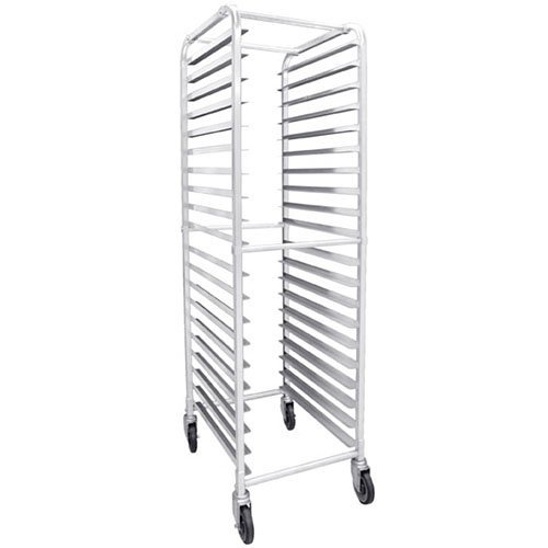 Excellante ALSPR020 20-Tier Pan Rack With 4 Casters ( 2 Locking, 2 Regular) 20 1/4'' x 26'' x 69 1/4'', Kockdown, NSF , Comes In Set