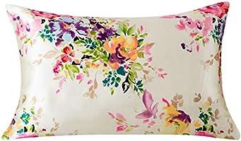 SLPBABY Silk Pillowcase for Hair and Skin with Hidden Zipper Print