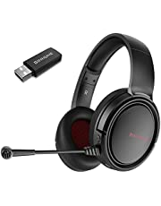 BINNUNE 2.4G Wireless Gaming Headset with Microphone for PS4 PS5 Playstation 4 5, PC Gamer Headphones with Mic, Wired Mode for Xbox One, Xbox Series X S Games