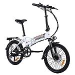"""41zOgg0Wg4S. SS150 Vivi Bicicletta elettrica da 20"""", bicicletta elettrica pieghevole da 250 W con pedali e batteria agli ioni di litio rimovibile da 36 V 8 Ah, bici elettrica da città a 7 velocità per Audlts"""