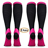 Compression Socks for Women & Men (2 Pairs), Deilin Graduated Compression Sock 20-30