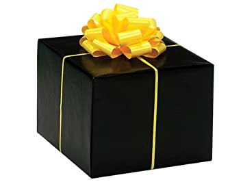 Amazon.com: Gloss Solid BLACK Gift Wrap Wrapping Paper 16 Foot ...