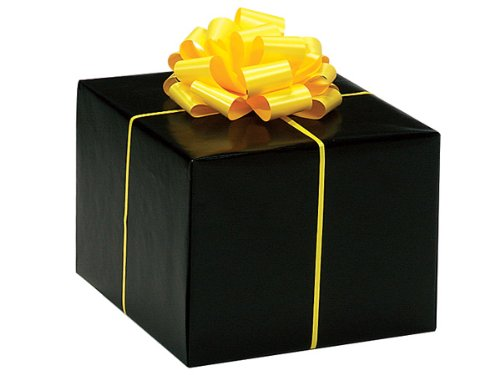 Gloss Solid BLACK Gift Wrap Wrapping Paper 16 Foot Roll - Bridal Wedding Anniversary Birthday -