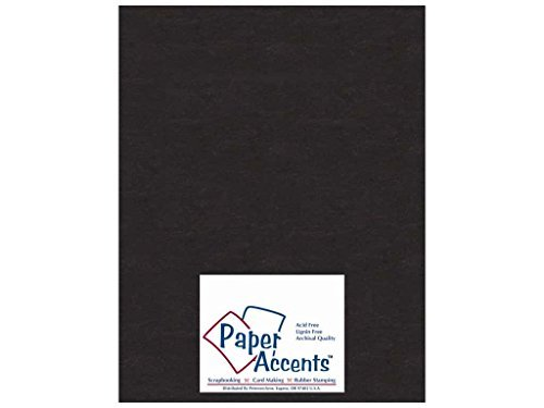Paper Accents Chipboard 8 1/2 x 11 in. Extra Heavy Black (25 sheets) by Paper Accents