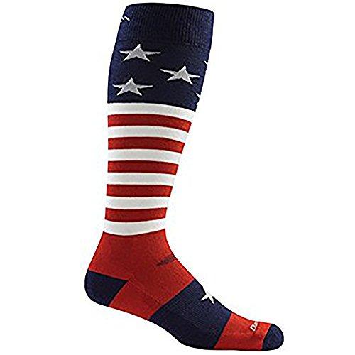 (ダーンタフ) DARN TOUGH Mens Captain America Cushion 1818 Stars and Stripes Lサイズ 19441818001007