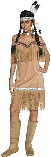 NET TOYS Traje de India o Pocahontas Disfraz aborigen Mujer Oeste ...