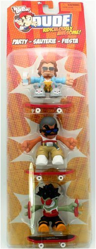 Tech Deck Dude Ridiculously Awesome Party - Sauterie - Fiesta - 3 Figures Pack