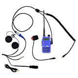 #2: Rugged Radios MC-5R Two Way Radio Communication Kit - Includes RH-5R Dual Band Handheld 5 Watt Radio with Push-to-Talk Cable, Helmet Kit with Microphone and Helmet Speakers