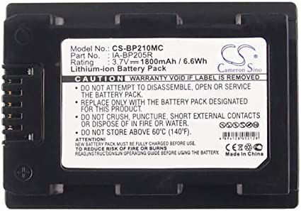 XPS Replacement Battery for Samsung HMX-F50BN HMX-H300 HMX-H300BN HMX-H300BP HMX-H304 HMX-H305 SMX-F50 SMX-F50BP SMX-F54