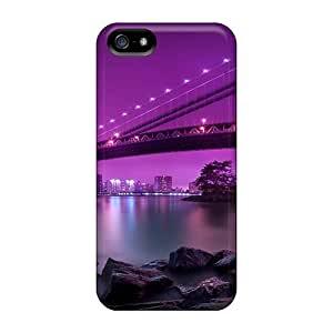 Hot Style UNW32029gJMt Protective Cases Covers For Iphone5/5s(manhattan Bridge Hdr)