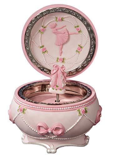 Box Trinket Music (Ballerina and Bows Hinged Trinket Box)