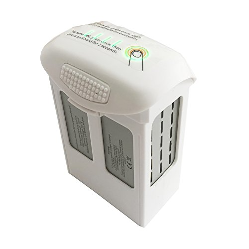 IDS Home 5870mAh High Capacity Intelligent Flight Battery for DJI Phantom 4 Pro Pro+ Phantom 4 Series Replacement White