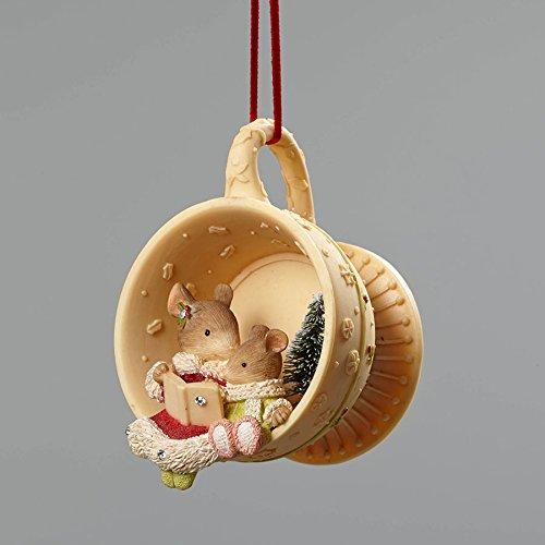 Enesco Heart Christmas Mice Ornament