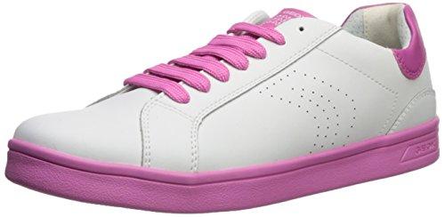 Geox DJ Rock Girl 4 Sneaker, White/Fuchsia, 40 M EU Big Kid (6.5 US) ()
