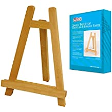 US Art Supply CARMEL Small 10-1/2 inch Tabletop Wood Display Artist A-Frame Easel