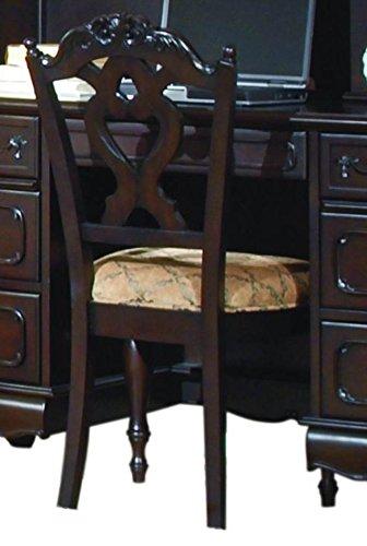 Homelegance Cinderella Writing Desk Chair in Dark Cherry