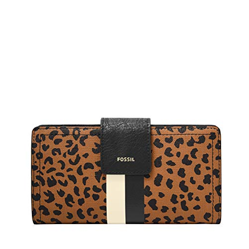 Fossil Women's Logan Leather RFID-Blocking Tab Clutch Wallet