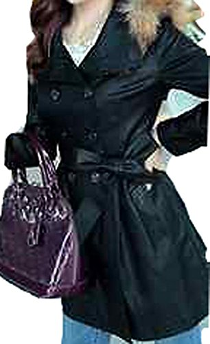Slim Long Coat Fur Collar Coat Wallet Kepi Explosion Models