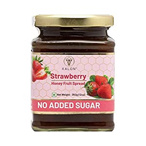 Kalon Strawberry Honey Fruit Spread – Preserved with 100% Organic Honey – 350G – Pack of 2