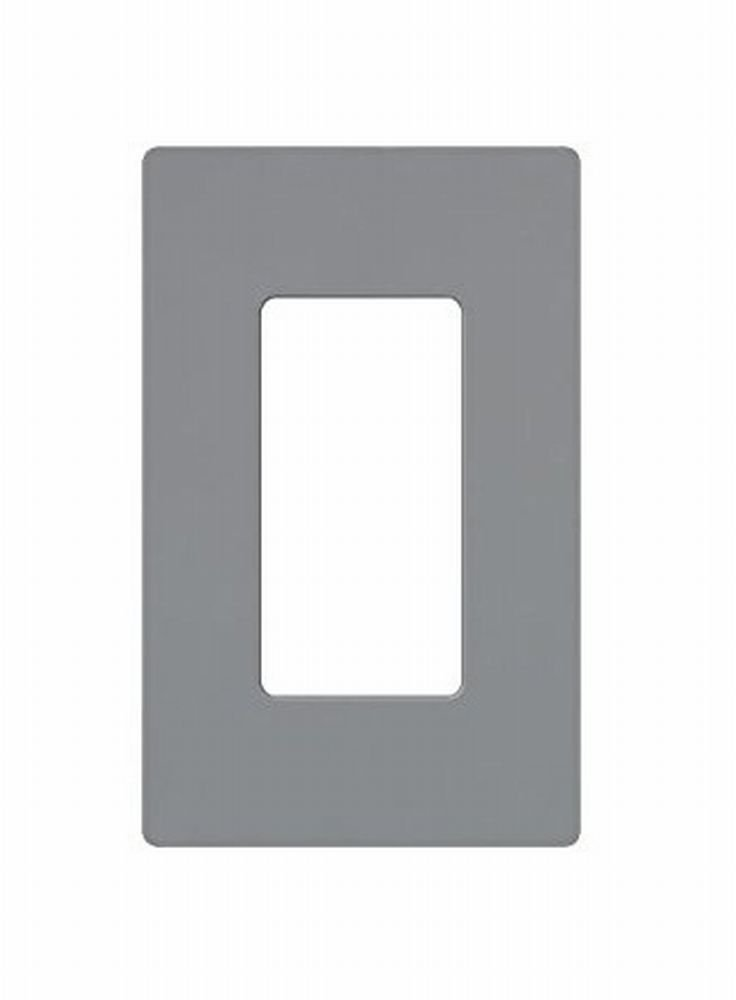 Leviton 80301-SGY 1-Gang Decora Plus Wallplate Screwless Snap-On Mount, Gray, 20-Pack