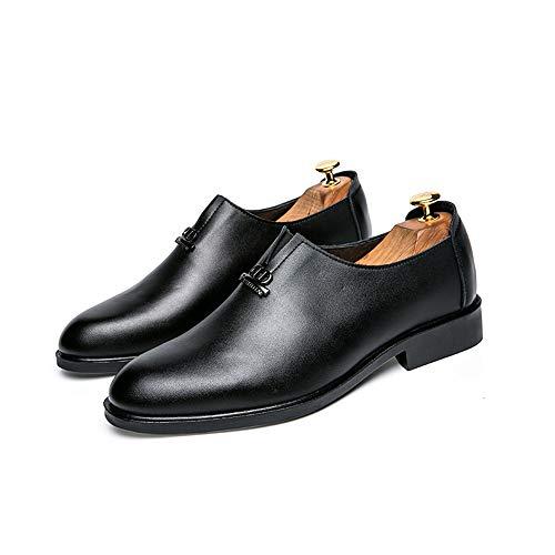 41 antirruidos Hombres Color Moda Negro Jusheng Moda EU Formal clásico Zapatos Transpirables Informal tamaño de Marrón Oxford para q1vA8Z